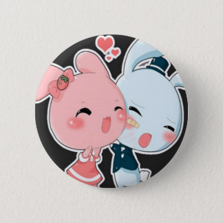 Love Bunnies 6 Cm Round Badge