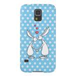 Love bunnies - blue galaxy s5 cover