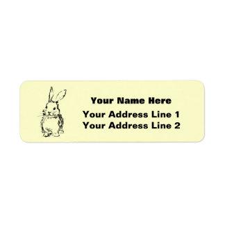Love Bunnies (customizable) Return Address Label