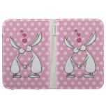 Love bunnies - pink kindle keyboard case