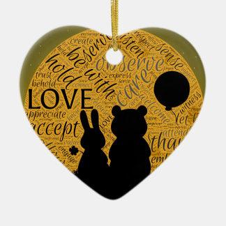Love bunny christmas ornament