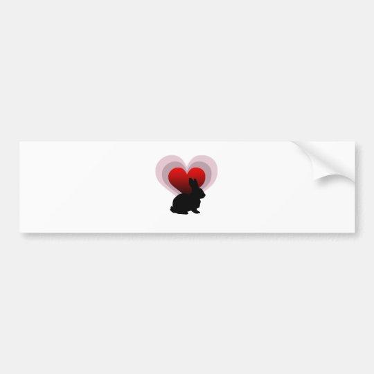 Love bunny rabbit - customisable bumper sticker