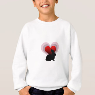 Love bunny rabbit - customisable sweatshirt