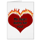 Love Burning Heart T-shirts & Gifts Card