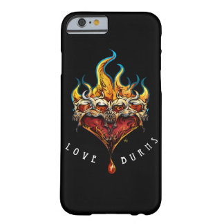 LOVE BURNS_ black phone cover