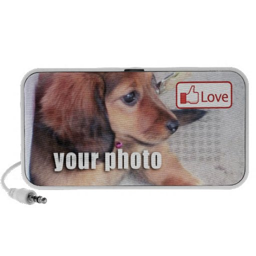 Love Button for Your Photo Laptop Speaker