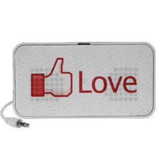 Love Button Laptop Speaker