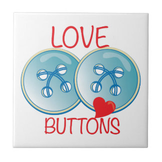 Love Buttons Small Square Tile