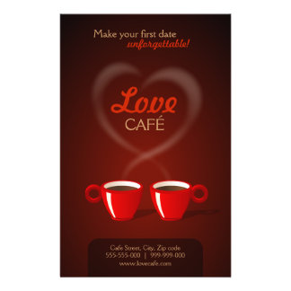Love Cafe flyer