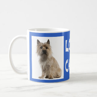 Love Cairn Terrier Puppy Dog Blue Coffee Mug