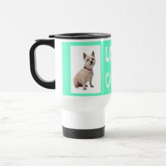 Love Cairn Terrier Puppy Dog Mint Green Coffee Mug