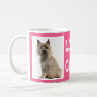 Love Cairn Terrier Puppy Dog Pink Coffee Mug