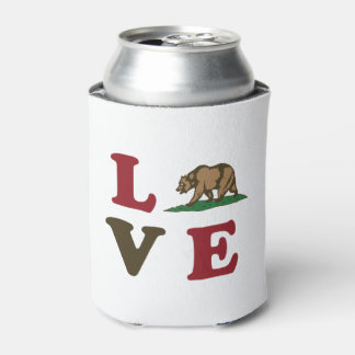 Love California Republic Grizzly Bear Can Cooler