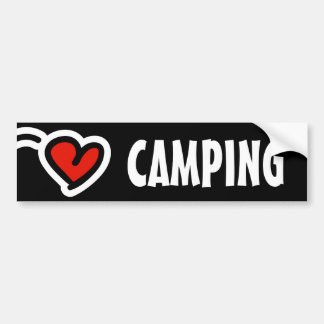 Love camping bumper sticker