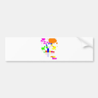 Love can be messy bumper sticker