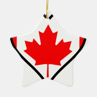 Love Canada Ceramic Star Decoration