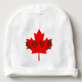 Love Canada Day red maple leaf baby hat Baby Beanie