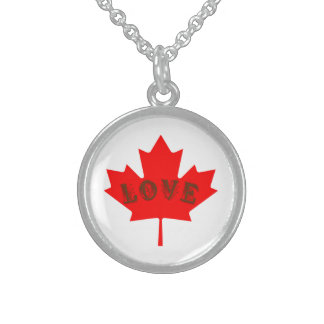 love Canada Day Red maple leaf necklace