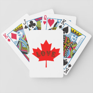love Canada Day red maple leaf  playing cards