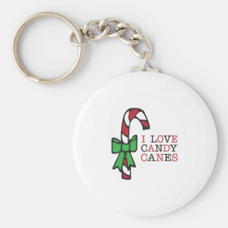 Love Candy Canes Keychains
