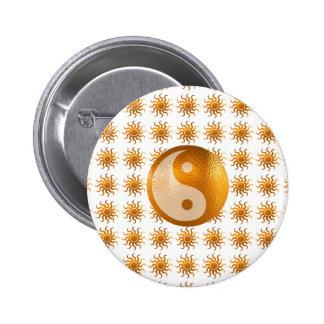 LOVE Care : Sun Energy n YIN YANG Balance 6 Cm Round Badge