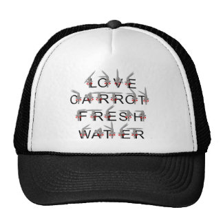 Love carrot and fresh water mesh hats