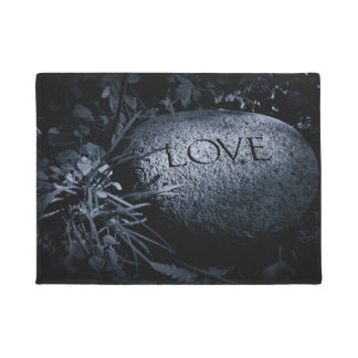 """Love"" Carved Stone Doormat"