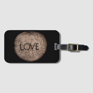 """Love"" Carved Stone Luggage Tag"