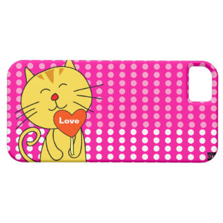Love Cat Lollipop iPhone 5 Case-Mate Case