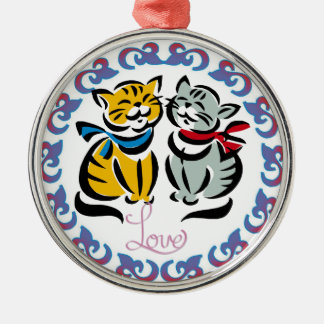 Love Cats Artwork Christmas Ornament