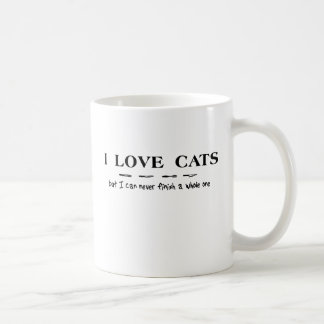 Love Cats Can Never Finish A Whole One Funny Mug