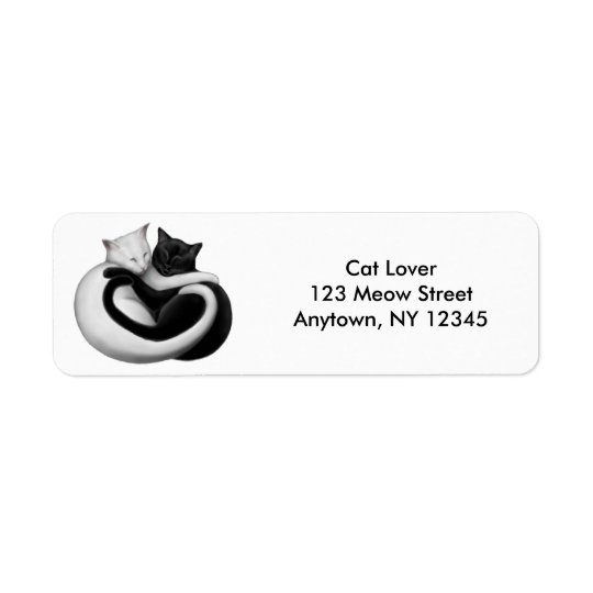 Love Cats Customisable Avery Label