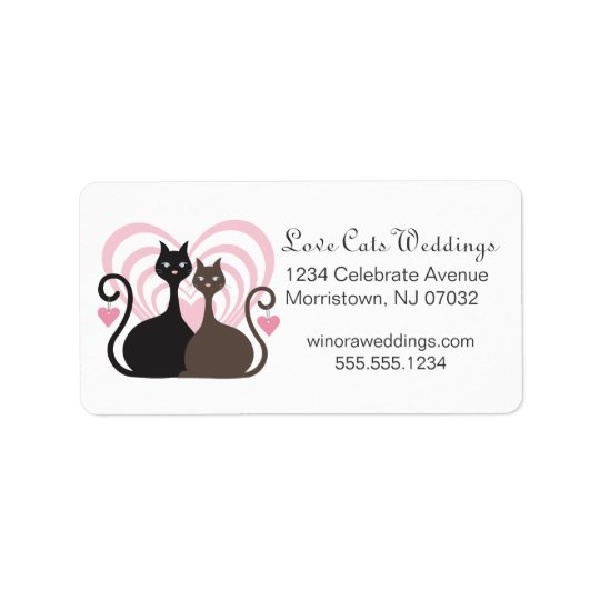 Love Cats Design Custom Address Label