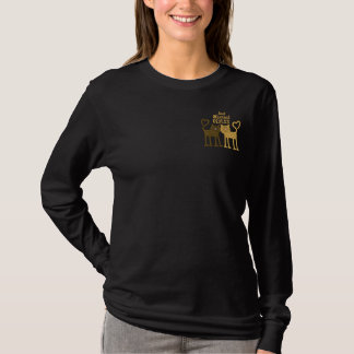 Love Cats Embroidered Long Sleeve T-Shirt