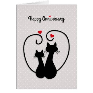 Love Cats, Happy Wedding Anniversary Greeting Card
