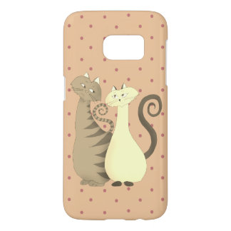 Love Cats Romance Cartoon Polka Dots Girly Pale