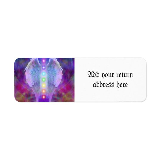 Love,chakra,angel,god,healer,healing,yoga,heal, Return Address Label