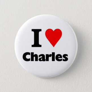Love charles 6 cm round badge