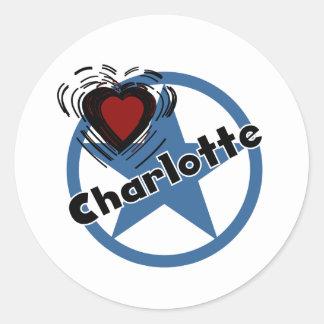 Love Charlotte Round Sticker
