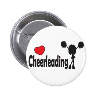 Love Cheerleading 6 Cm Round Badge