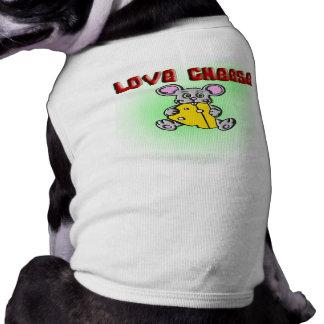 love cheese doggie t-shirt