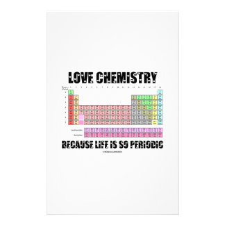 Love Chemistry Because Life Is So Periodic Personalised Stationery