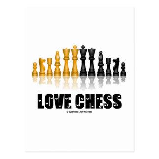 Love Chess Postcard