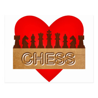 Love chess postcard