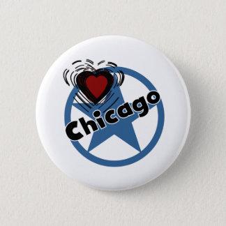 Love Chicago 6 Cm Round Badge