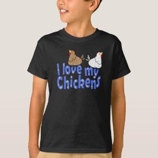 Love Chickens Childrens Dark T-shirt
