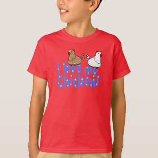 Love Chickens - Dark ChildrensT-shirt T-Shirt