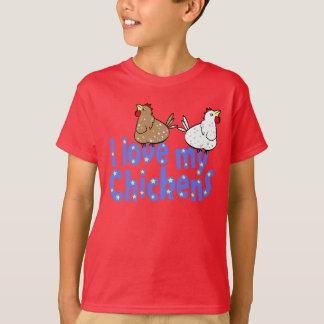 Love Chickens Dark Kids T-shirt