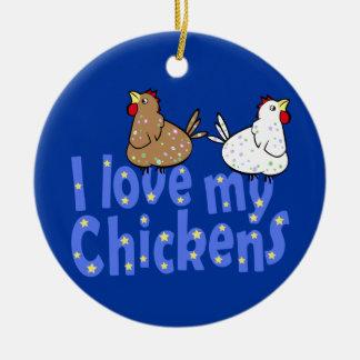 Love Chickens Ornament