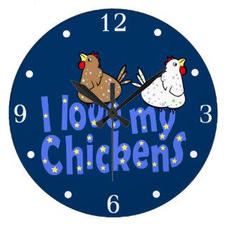 Love Chickens Wallclock